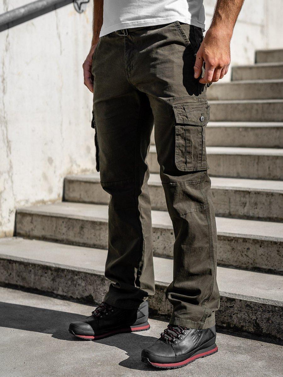 Pantaloni cargo cu curea verzi Bolf 1679 imagine