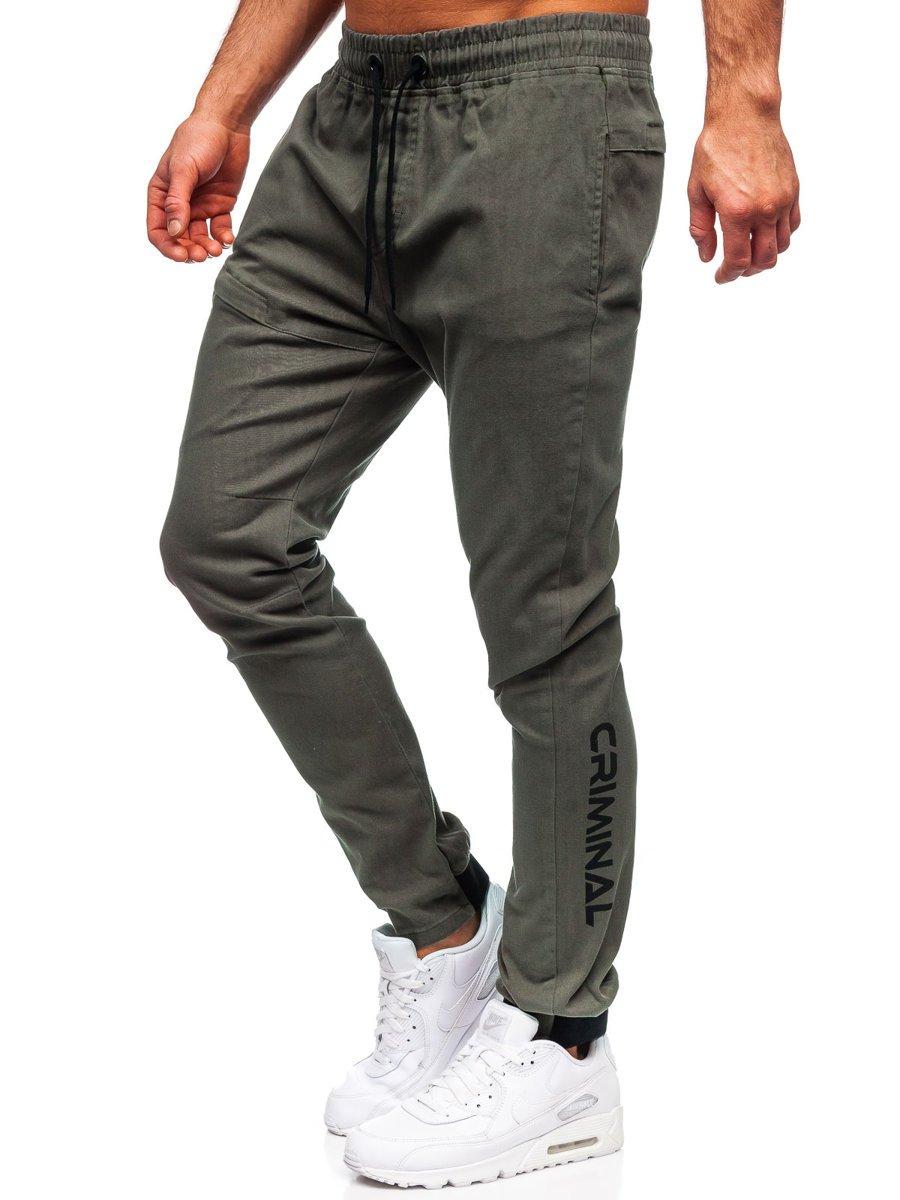 Pantaloni joggers verzi Bolf B11119