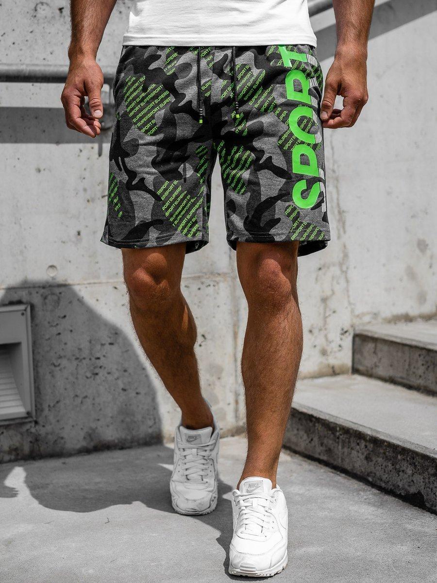 Pantaloni scurți de trening grafit Bolf KS2504 imagine