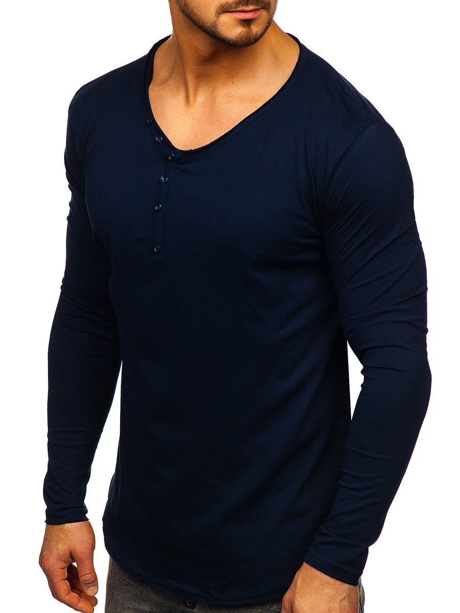 Bluză bleumarin bărbati Bolf Bolf 5059 imagine