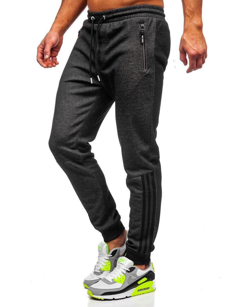 Pantaloni de trening negru-alb bărbați Bolf Q1043