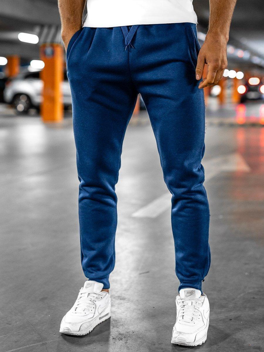 Pantaloni de trening indigo Bolf XW01 imagine
