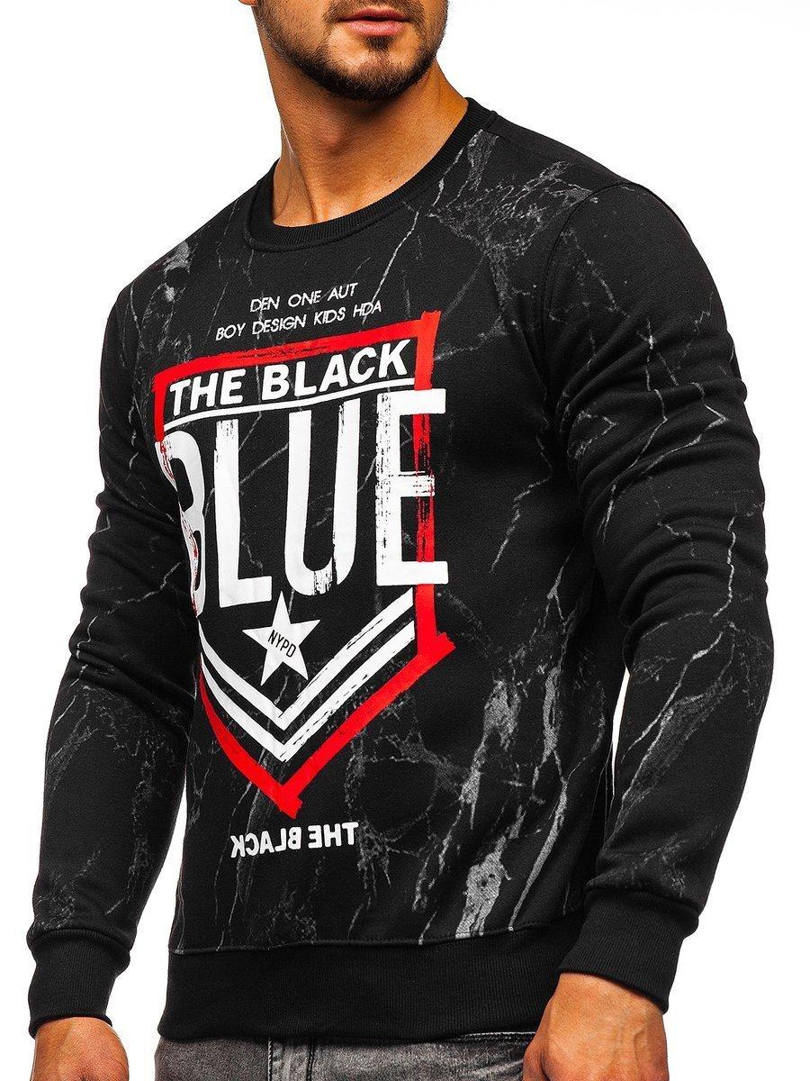 Bluză pentru bărbat fără glugă neagră Bolf DD260