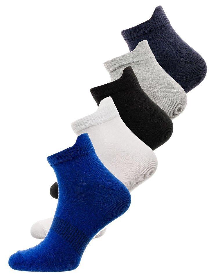 Șosete pentru bărbați multicolor Bolf X10136-5P 5 PACK
