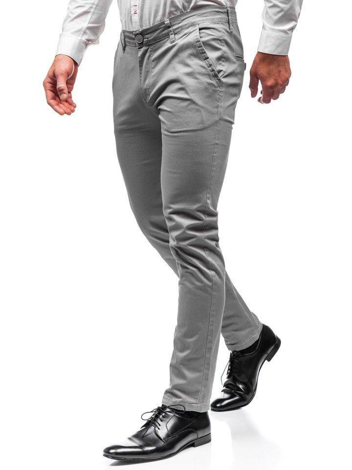 Pantaloni chino bărbați gri Bolf 2901 imagine