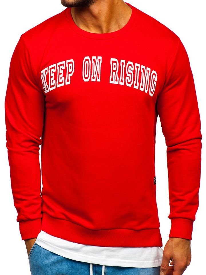 Bluză cu imprimeu bărbați roșu Bolf 11114