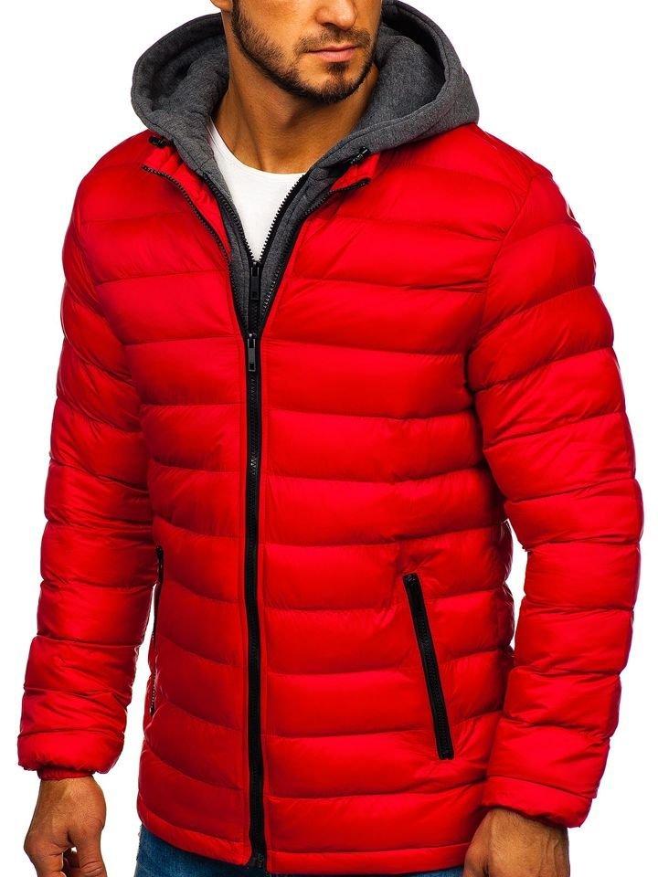 Geacă de iarnă sport bărbați roșie Bolf JP1102