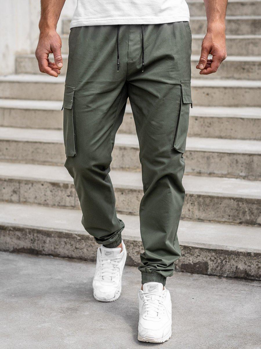 Pantaloni cargo joggers kaki bărbați Bolf 701 imagine