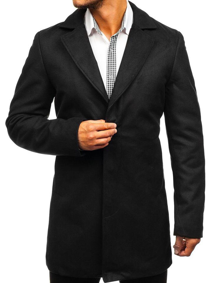 Palton de iarnă pentru bărbat negru Bolf 5438 imagine