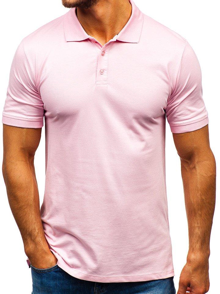 Tricou polo bărbați roz Bolf 9025