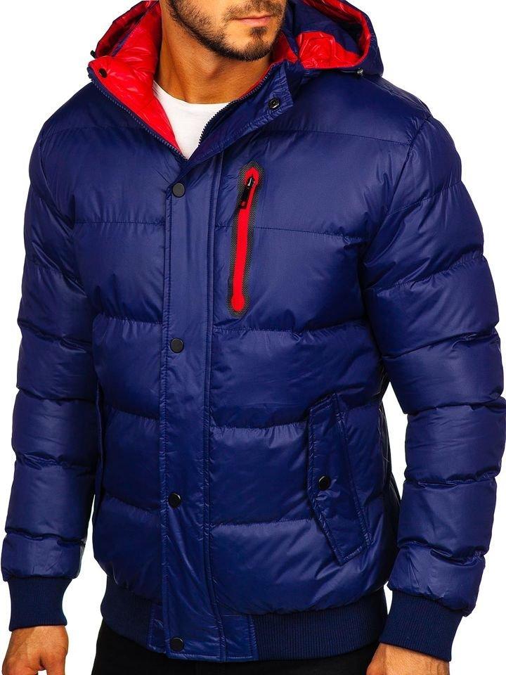 Geacă de iarnă matlasată bleumarin Bolf 5839