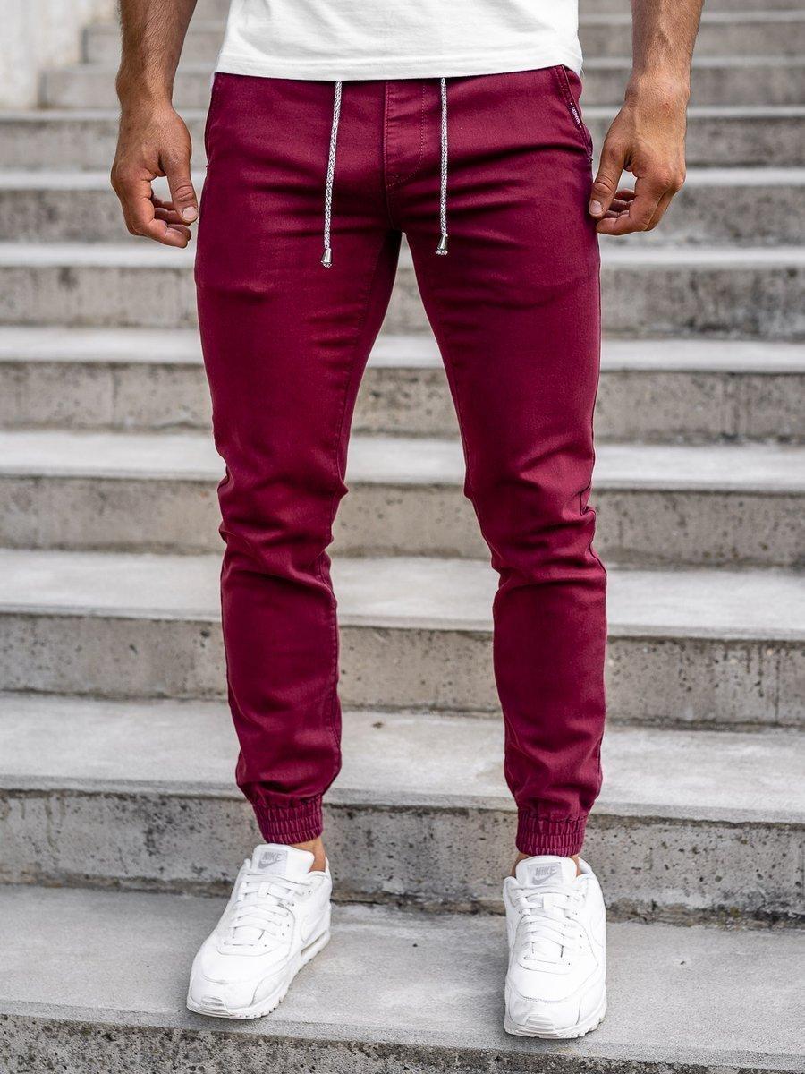 Pantaloni joggers bordo bărbați Bolf CT8808 imagine