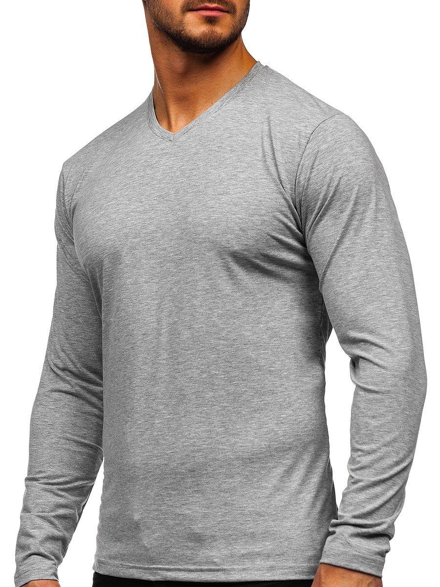 Bluză cu decolteu gri Bolf 172008 imagine