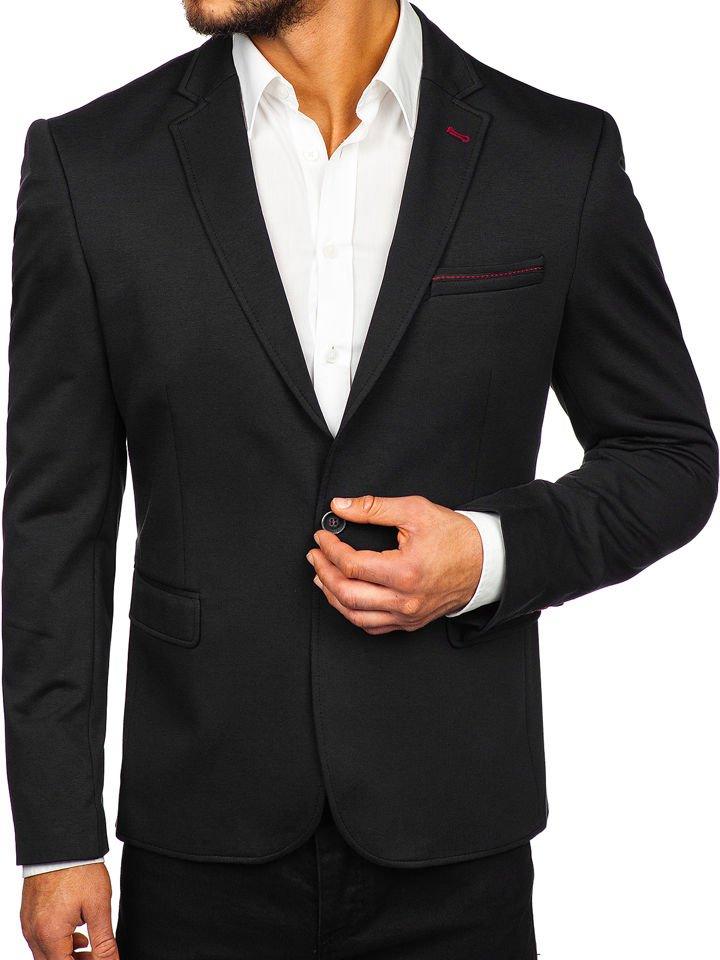 Sacou elegant bărbați negru Bolf RBR406