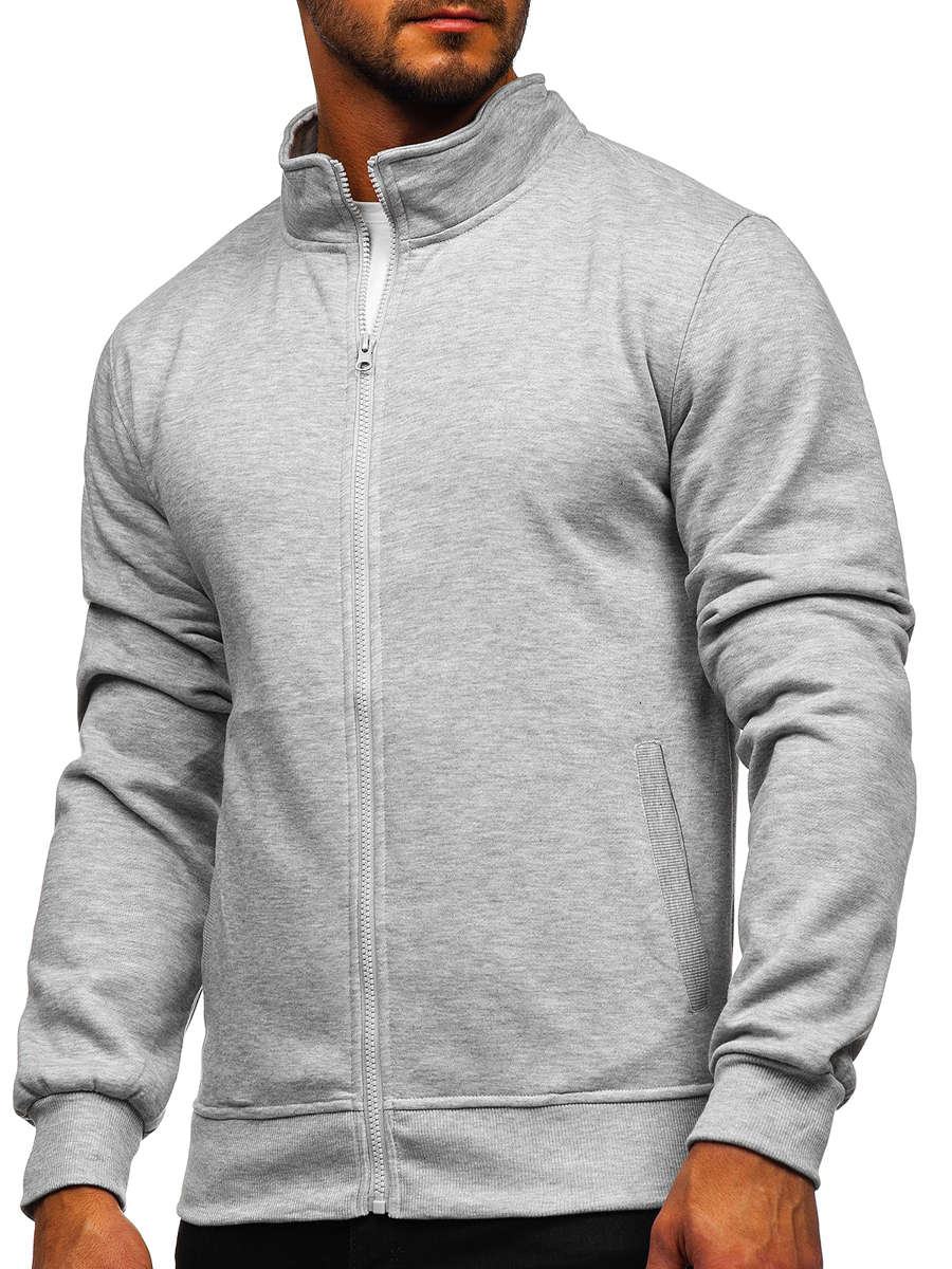 Bluză cu fermoar gri Bolf B2002