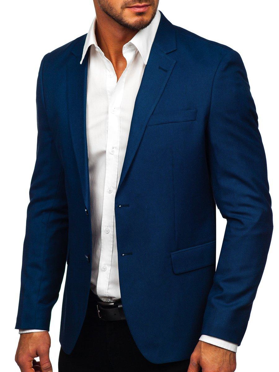 Sacou elegant albastru Bolf C181050 imagine