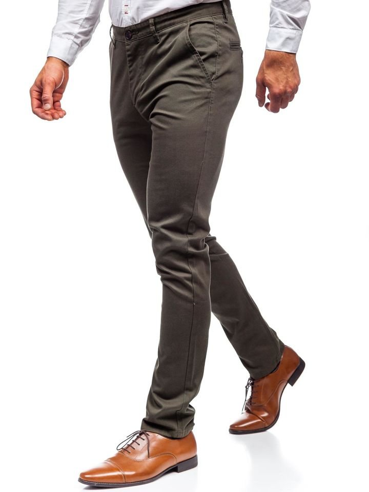 Pantaloni chino bărbați kaki Bolf KA969 imagine