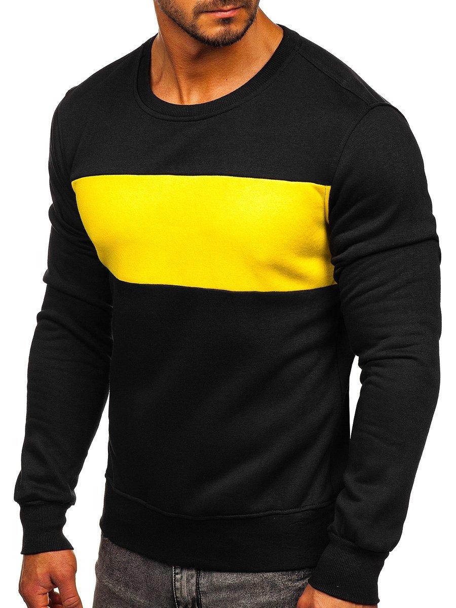 Bluză negru-galben bărbați Bolf 2020 imagine