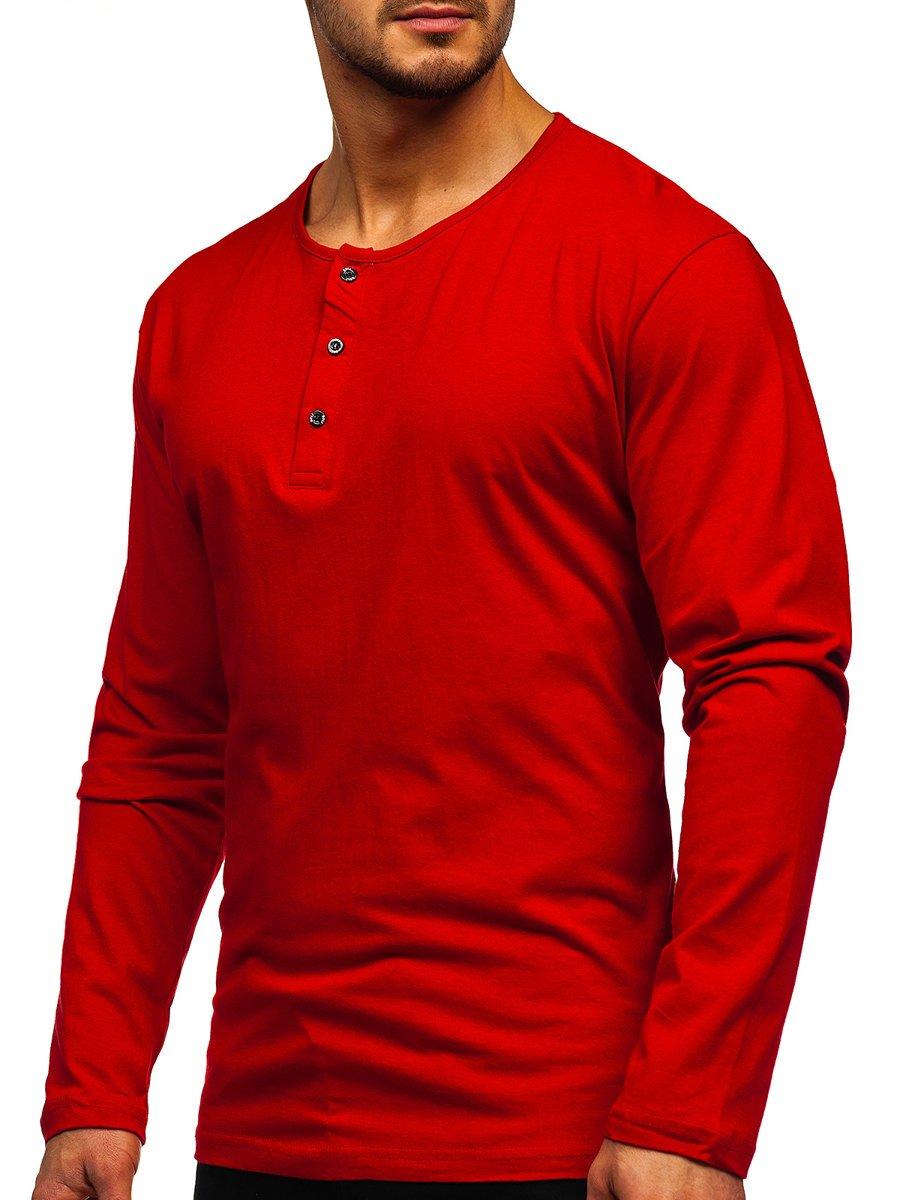 Bluză roșie cu închidere la nasturi Bolf 1114 imagine