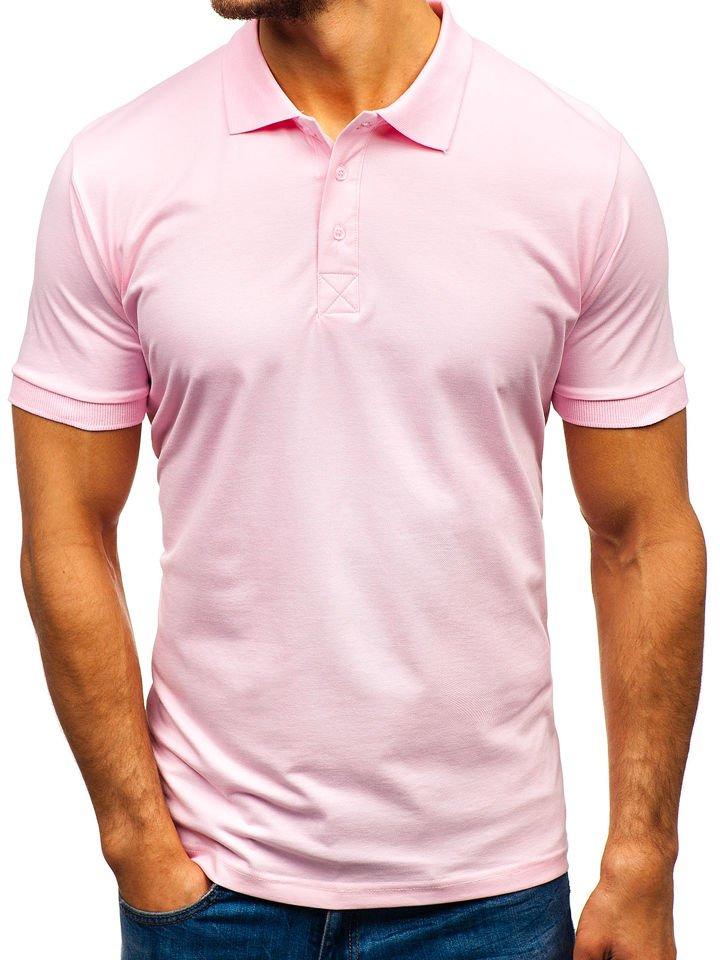Tricou polo bărbat roz Bolf 171221 imagine