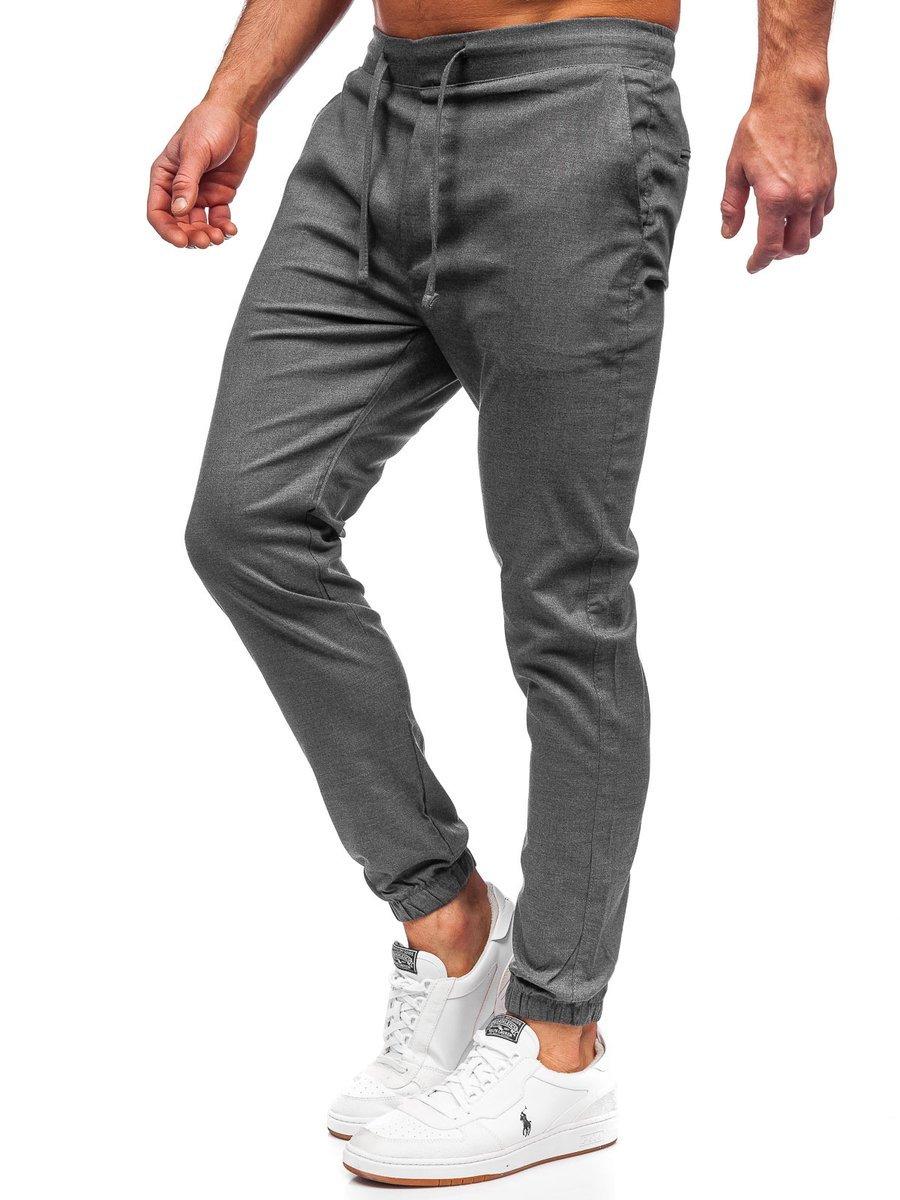 Pantaloni joggers gri-antracit Bolf 0011 imagine