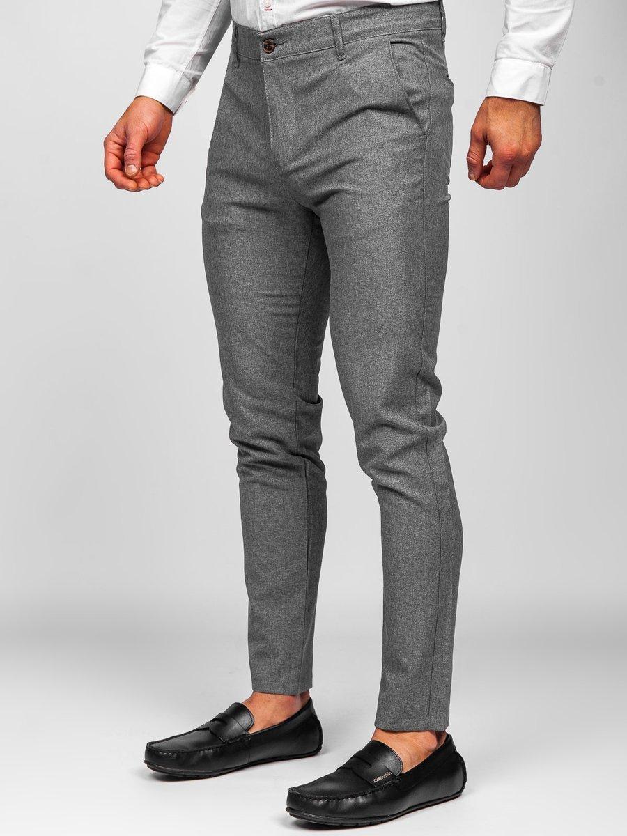 Pantaloni gri chinos Bolf 0016 imagine