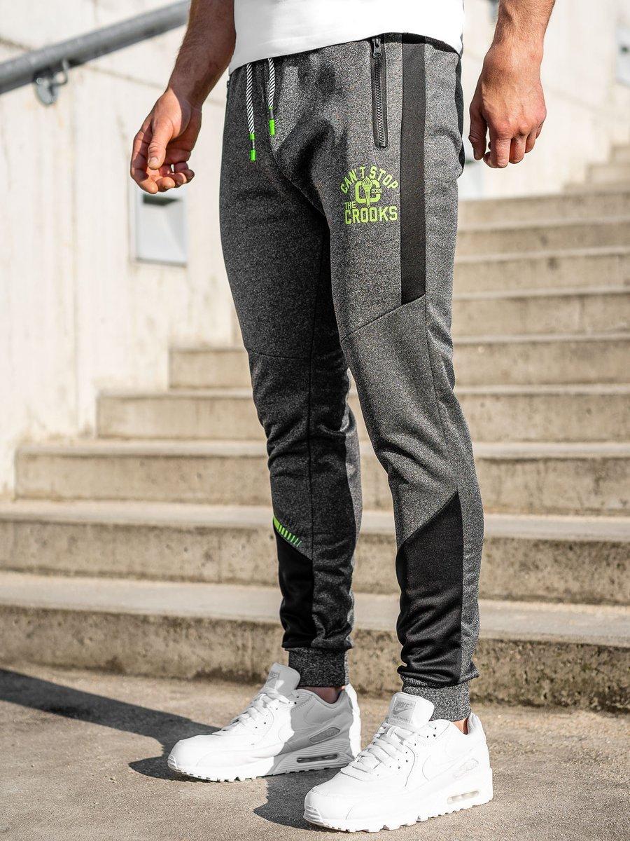 Pantaloni de trening grafit Bolf K50006 imagine