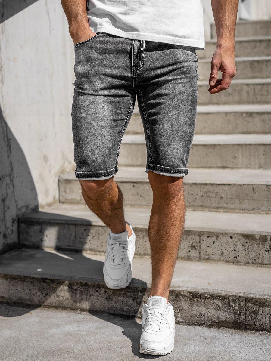 Pantaloni scurti de blugi bărbati Bolf KR1257