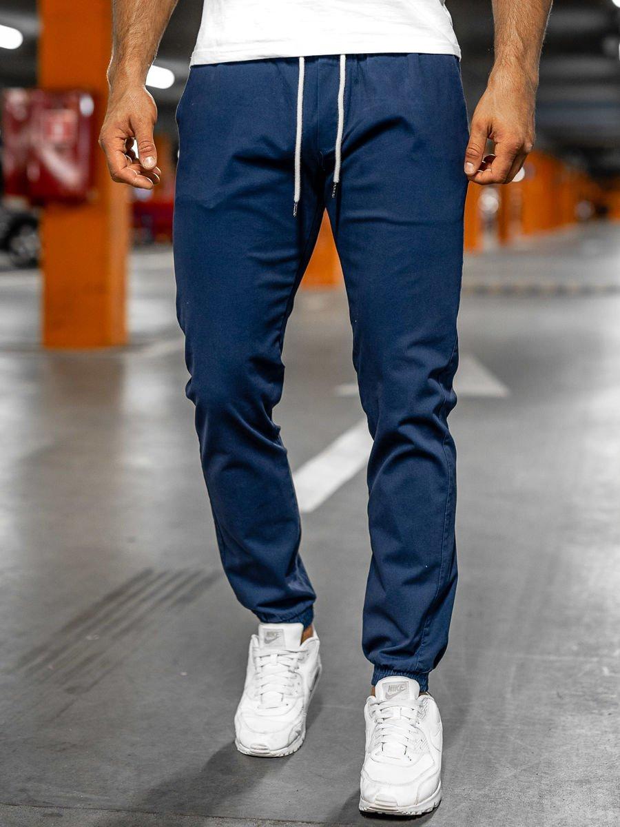 Pantaloni joggers indigo Bolf 1145 imagine