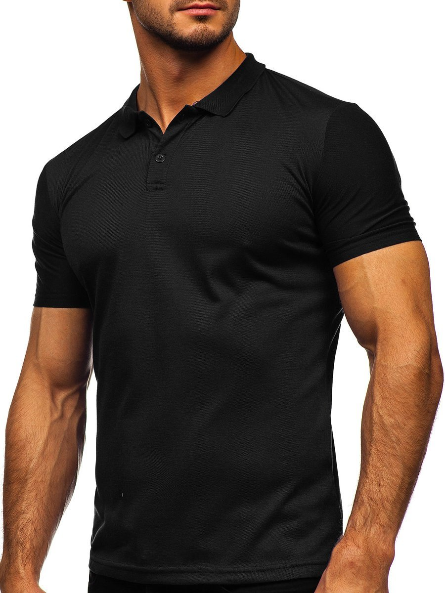 Tricou negru polo Bolf GD02