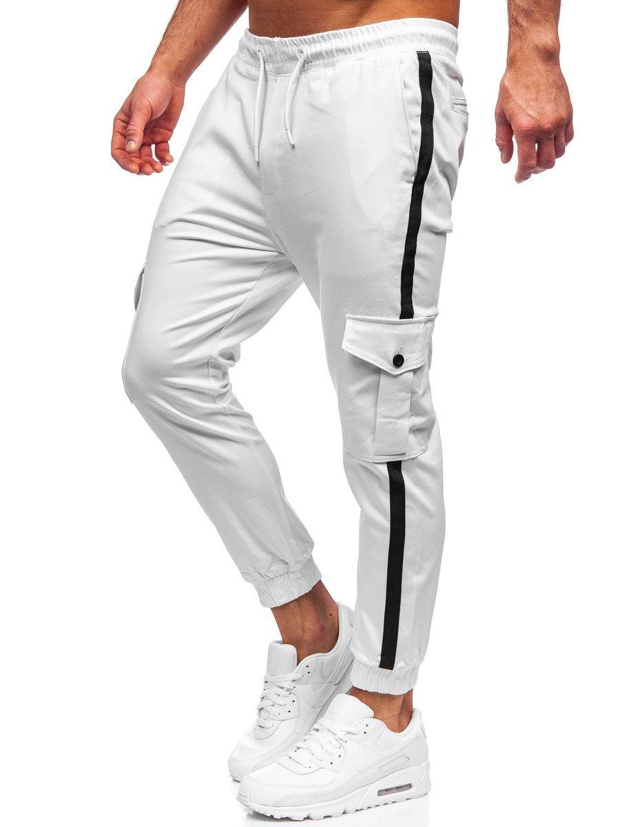 Pantaloni cargo joggers albi 0012-1 imagine