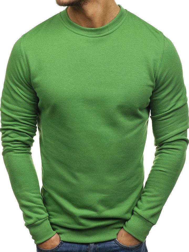 Bluză fără glugă pentru bărbat verde Bolf 01