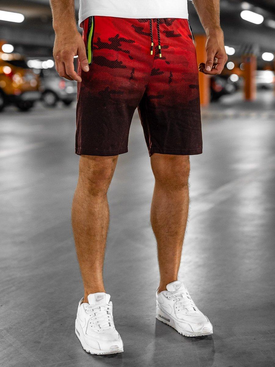 Pantaloni scurti trening roșu Bolf KK213 imagine