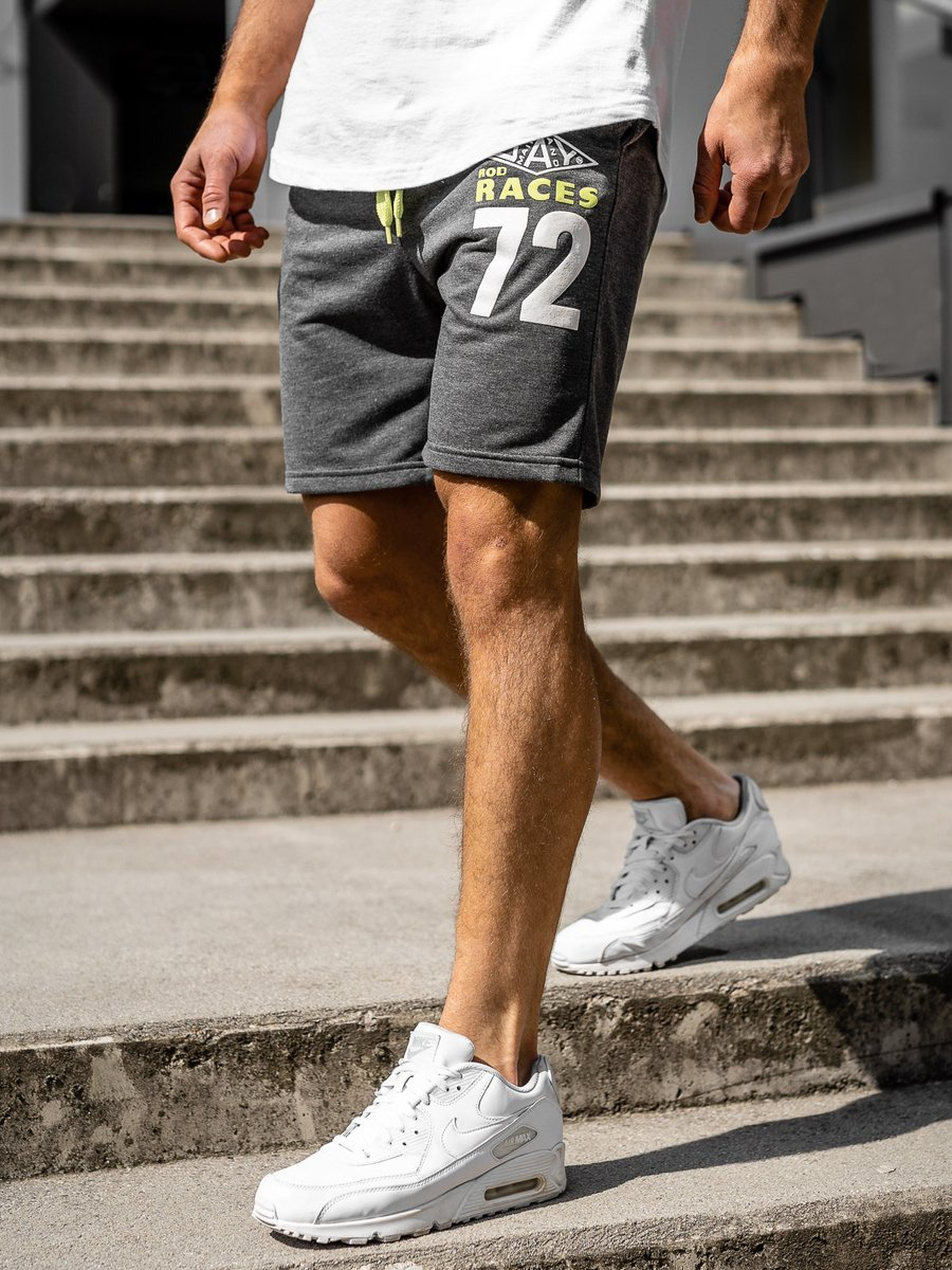 Pantaloni scurți sportivi pentru bărbat grafit Bolf EX05 imagine