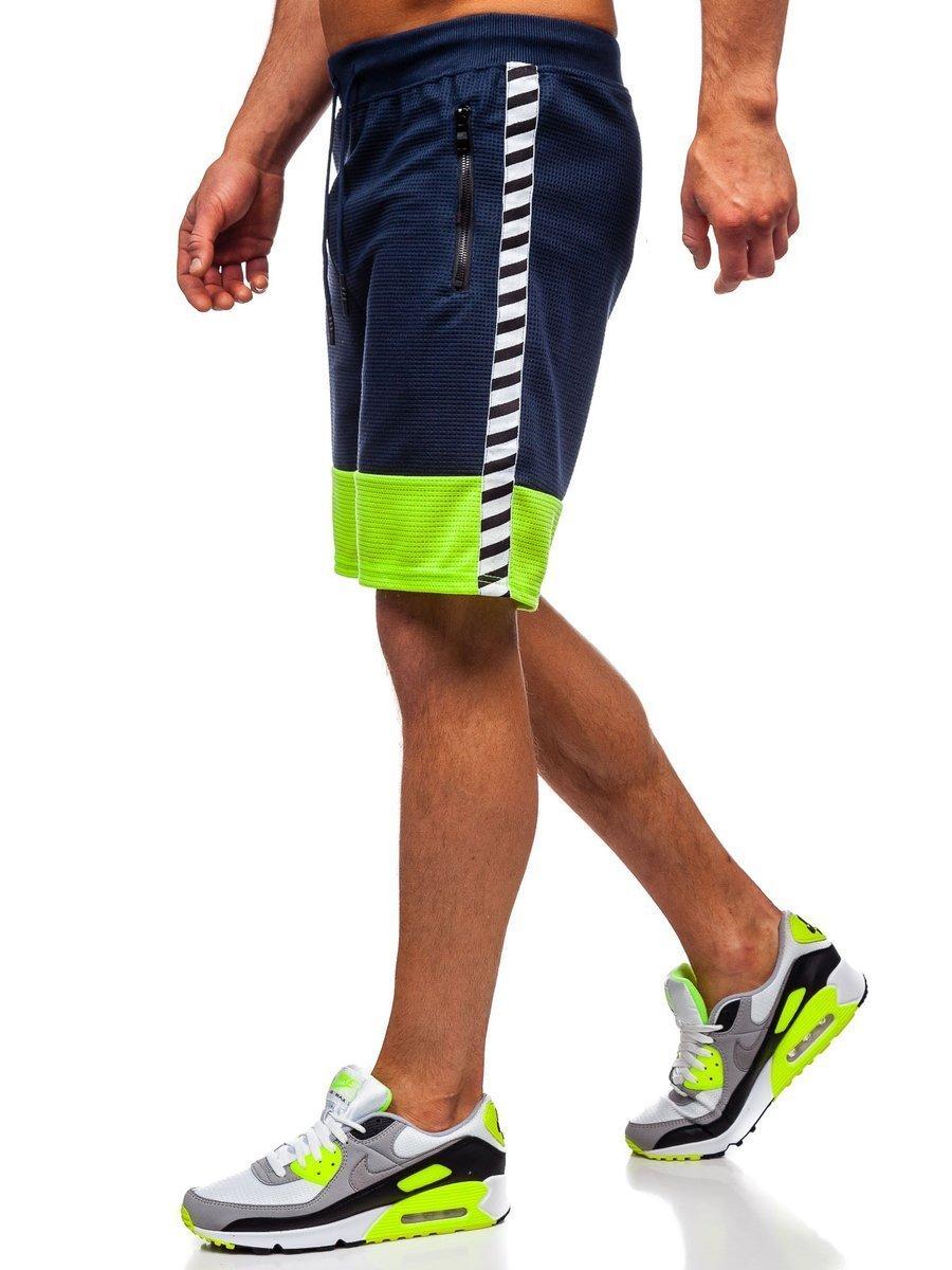 Pantaloni scurți de trening bleumarin bărbați Bolf KS2525 imagine
