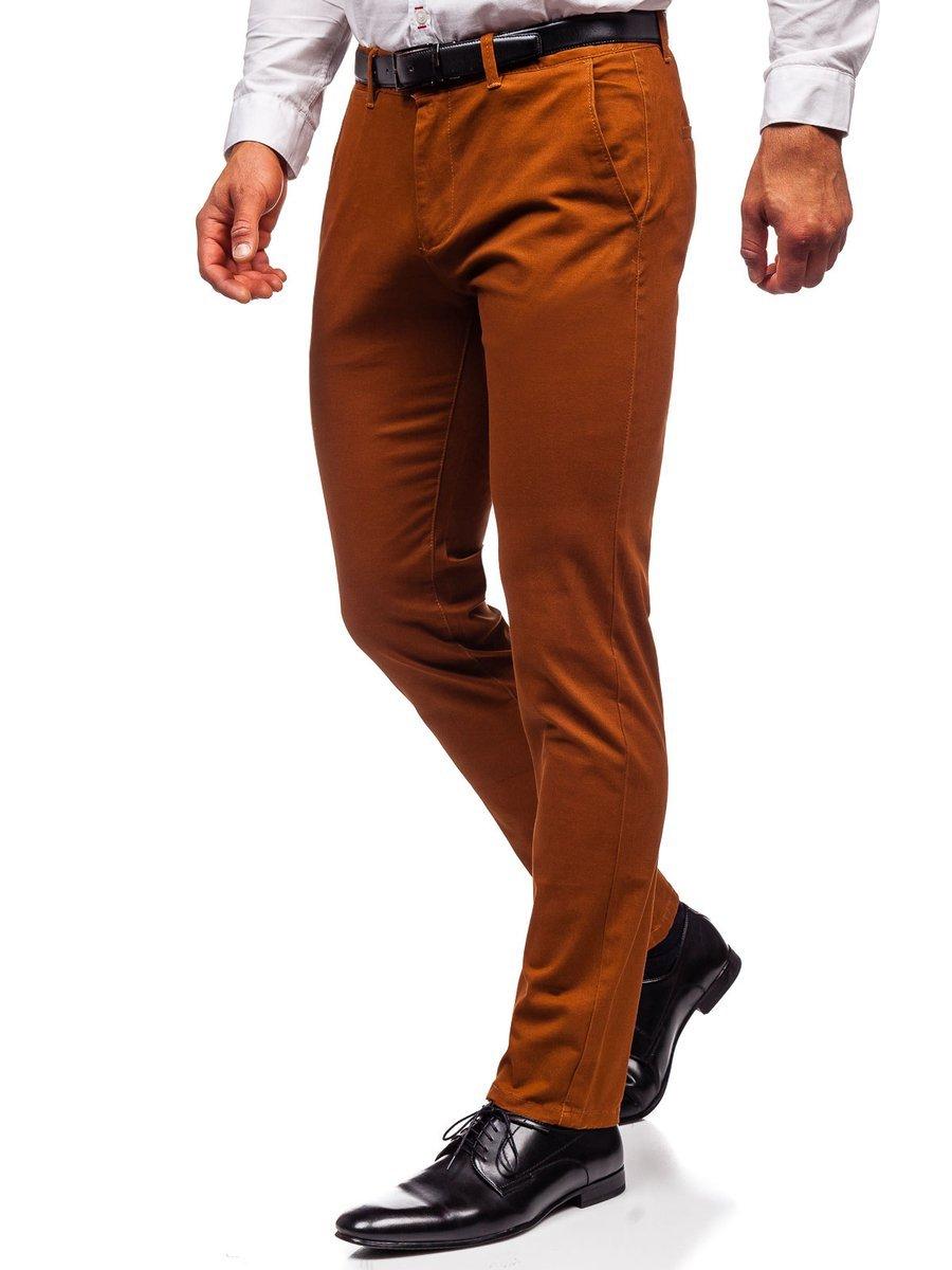 Pantaloni chinos maro bărbati Bolf 1143 imagine
