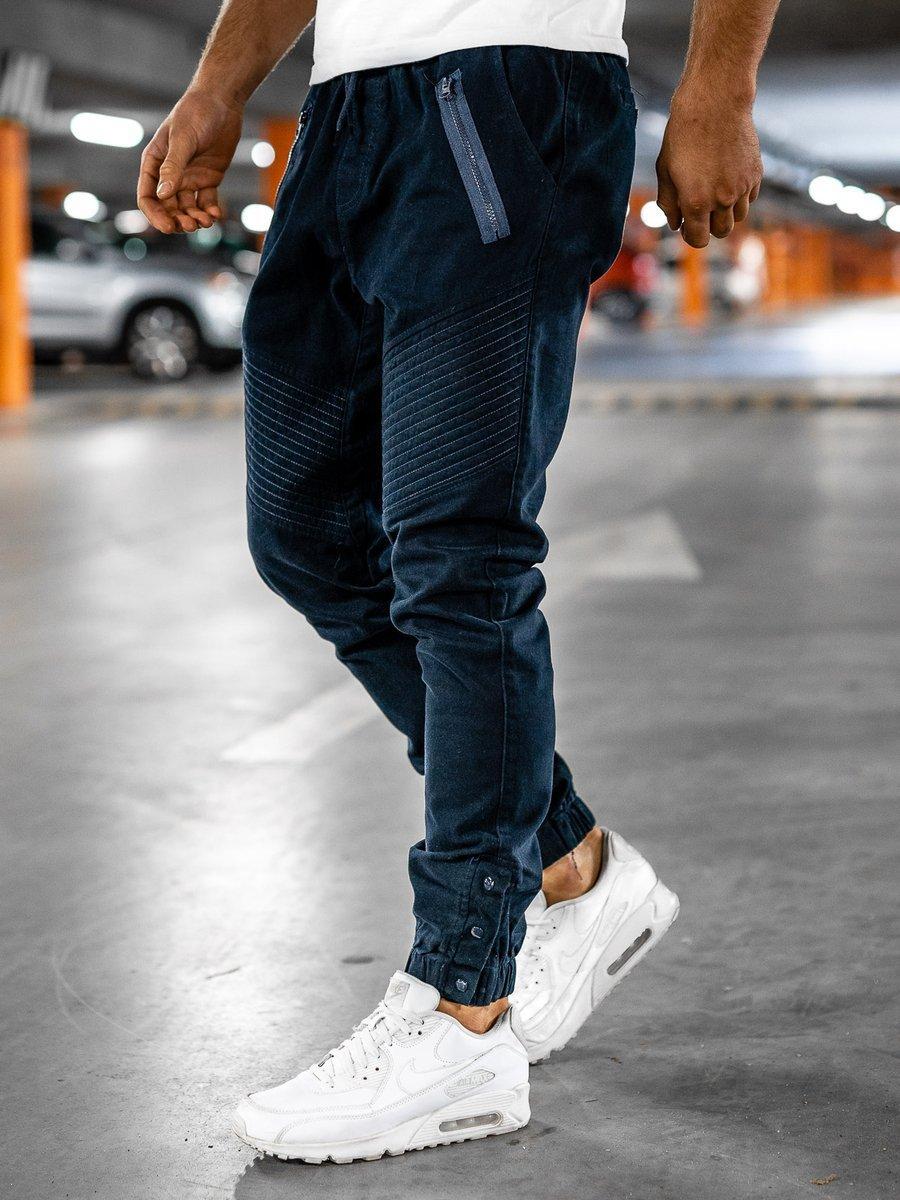 Pantaloni joggers bărbați bleumarin Bolf 0952 imagine