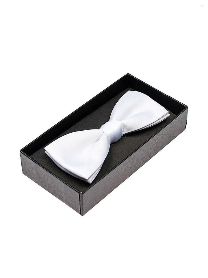 Papion elegant pentru bărbați alb Bolf M001