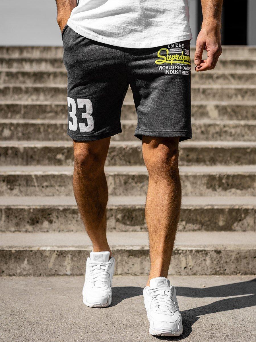 Pantaloni scurți de trening grafit bărbați Bolf EX06-1 imagine
