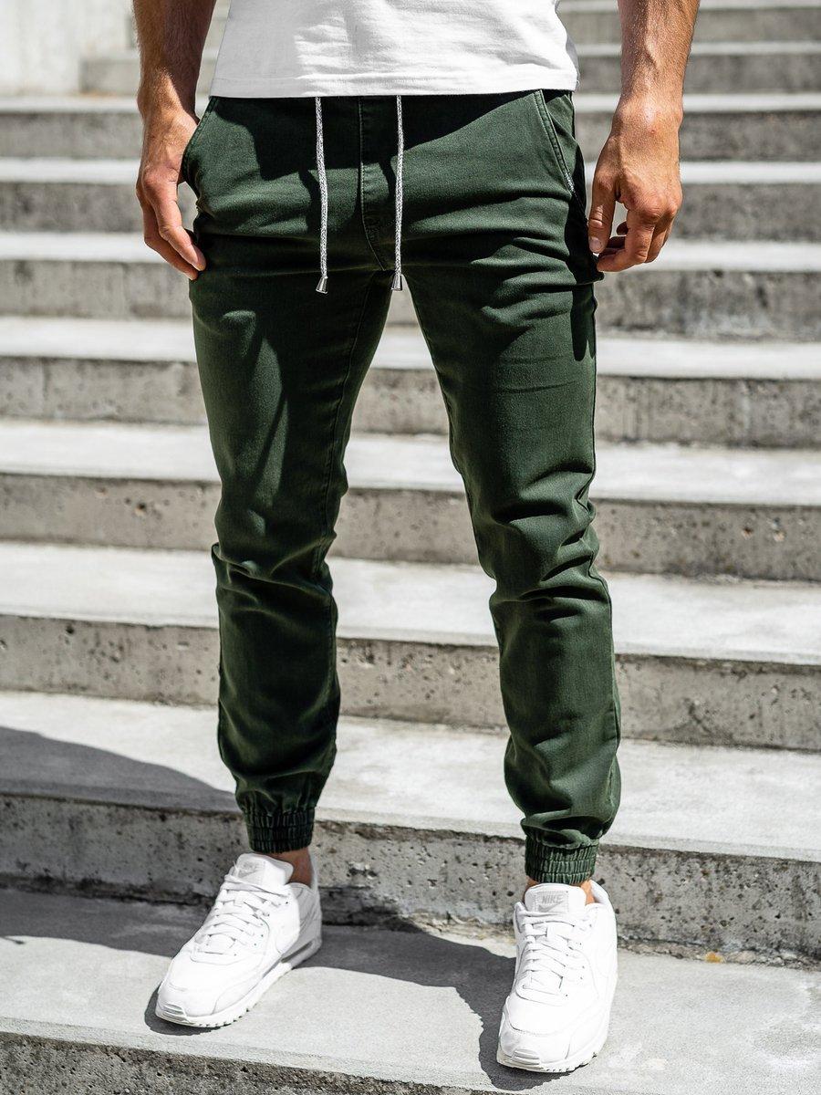 Pantaloni joggers verzi bărbați Bolf CT8808