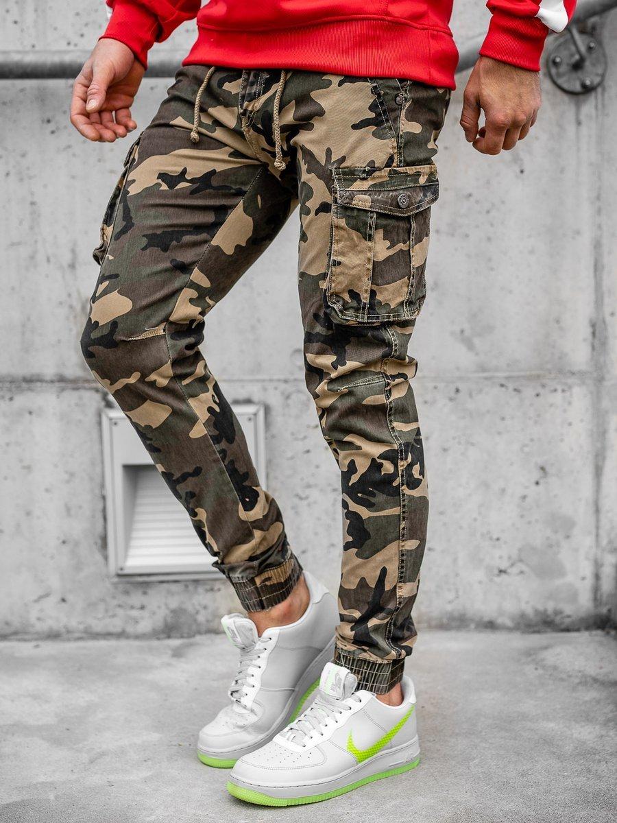 Pantaloni joggers cargo negri Bolf CT6019