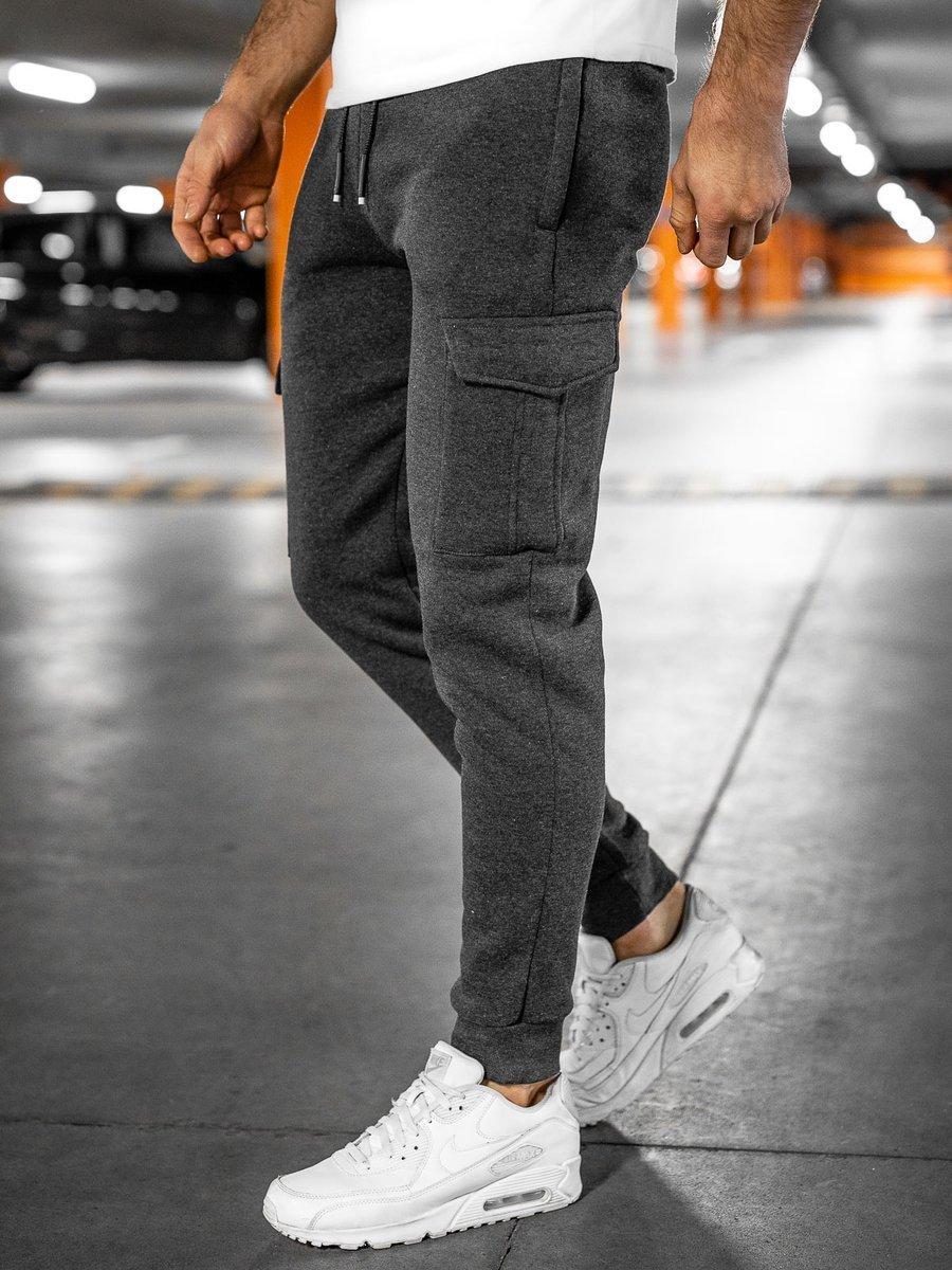 Pantaloni de trening cargo grafit bărbați Bolf JX8710