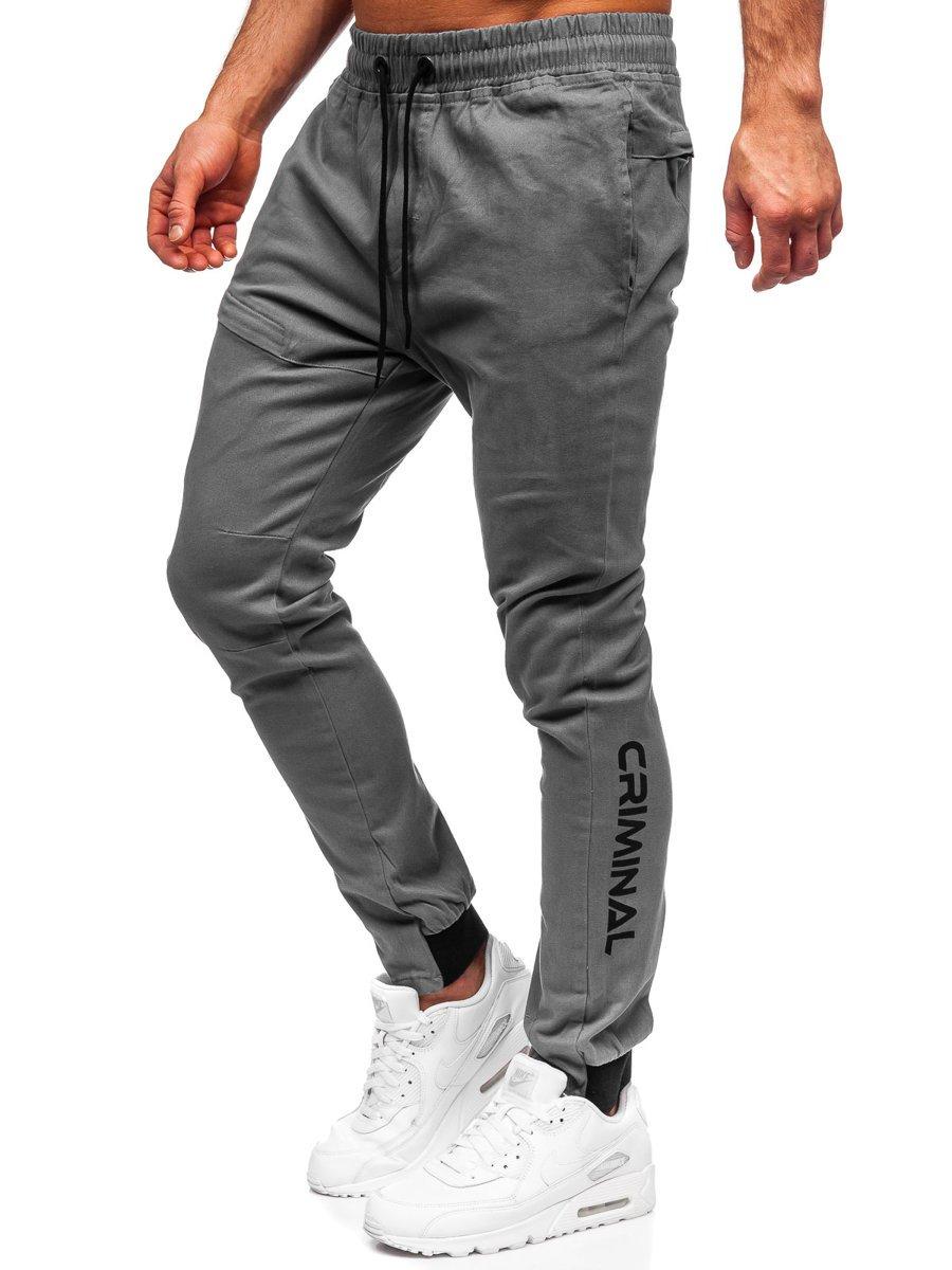 Pantaloni joggers gri Bolf B11119