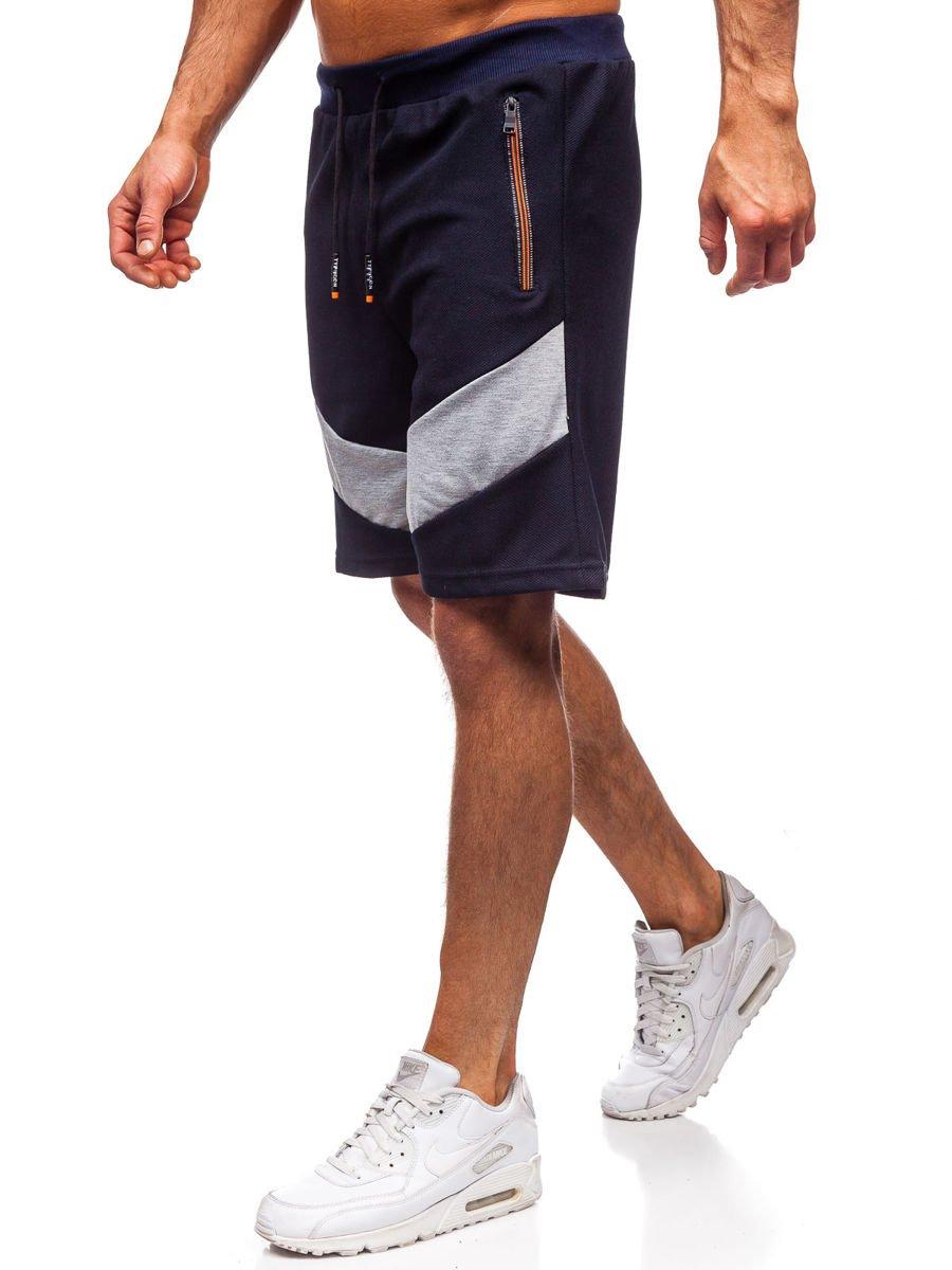 Pantaloni scurți de trening bleumarin Bolf KS2515 imagine