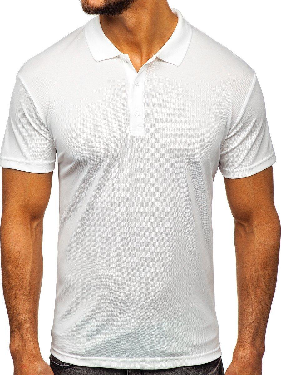 Tricou polo pentru bărbat alb Bolf HS2005 imagine