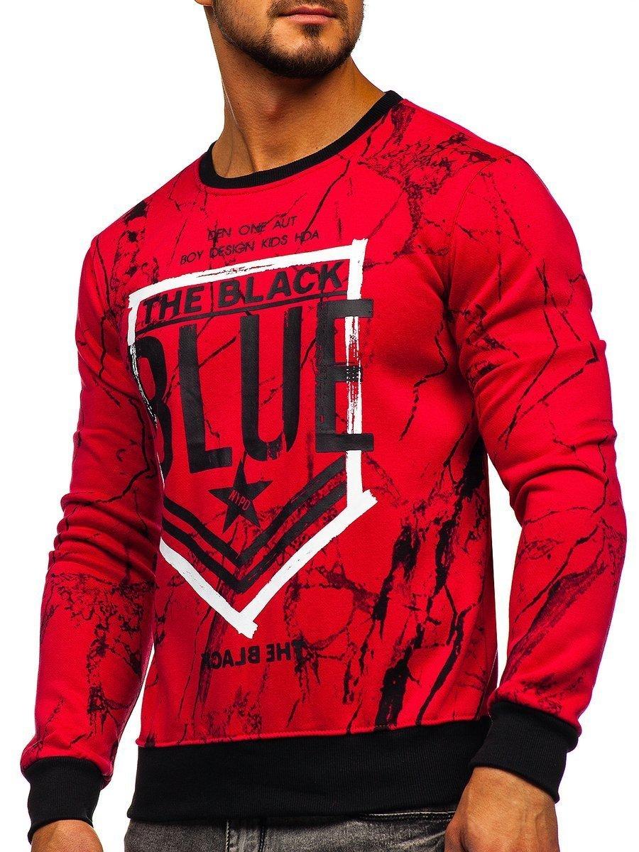 Bluză pentru bărbat fără glugă roșie Bolf DD260 imagine
