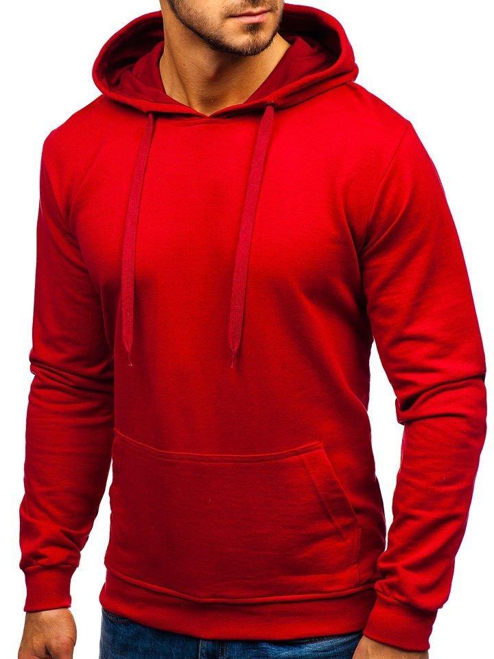 Bluza cu glugă pentru bărbați bordo Bolf 5361