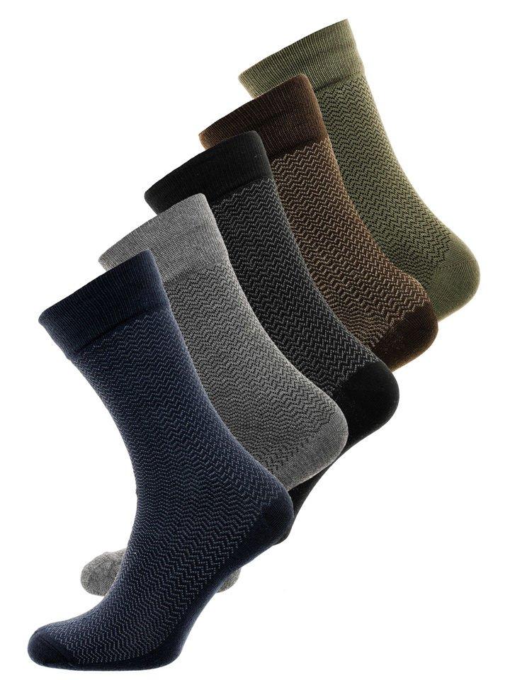 Șosete pentru bărbați multicolor Bolf X18001-5P 5 PACK
