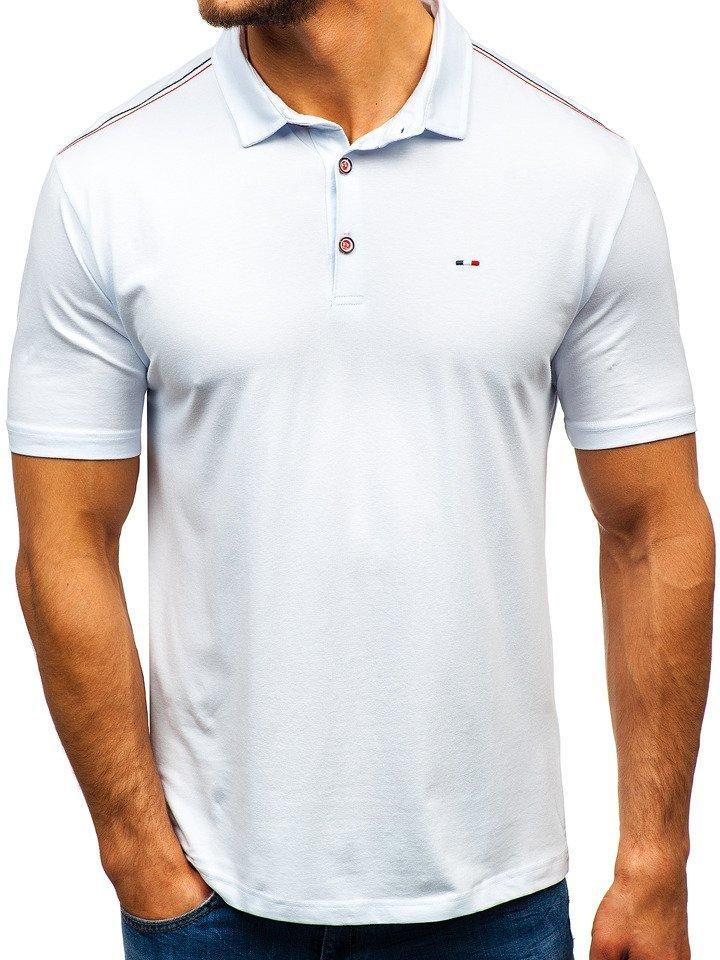 Tricou polo bărbați alb Bolf 6797