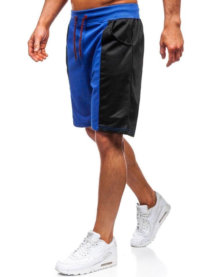 Pantaloni scurți de trening bărbați albastru Bolf 81016